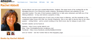 Rachel's Amazon Page