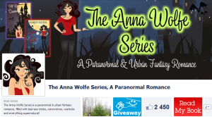 Casey Facebook page of The Anna Wolfe Series, A Paranormal Romance