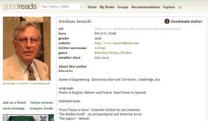 Avraham Anouchi's Goodreads Page