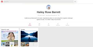 Hailey Rose Barrett's Pinterest Page