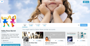 Hailey Rose Barrett's Twitter Page