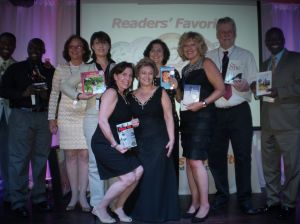 At the 2014 #ReadersFavorite Award Ceremony in #Miami with my fellow award-winning authors. #books. — with Gisela Hausmann, Debra Gaynor, Val Silver