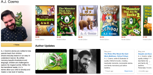 A. J. Cosmo's Amazon Author Page